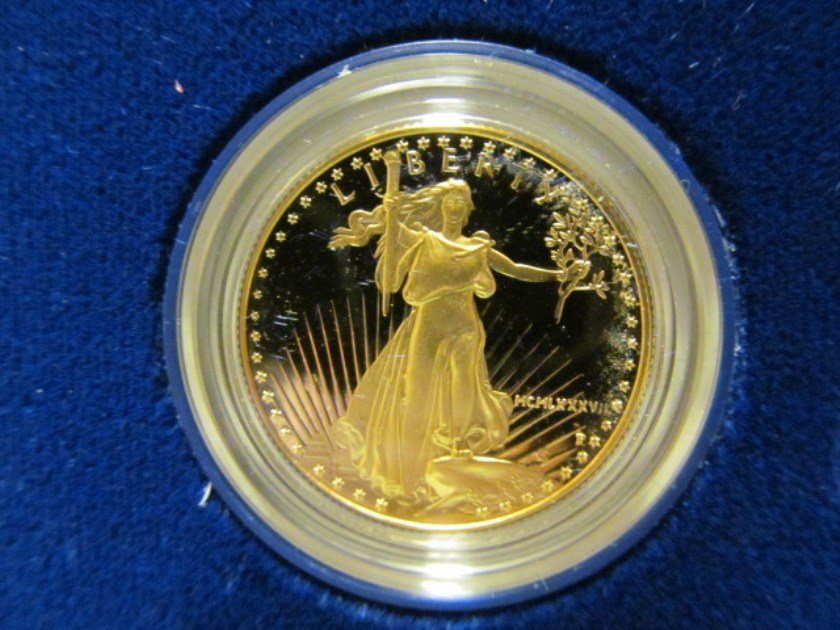American Eagle 1987 (35) ~ 1/2 oz. One Half Ounce $25