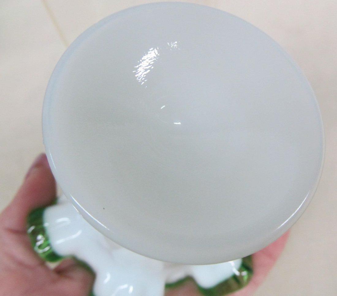 Fenton Emerald Crest Vase - 4