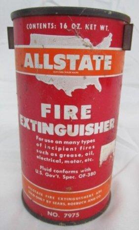 Vintage Allstate 16 Oz Fire Extinguisher