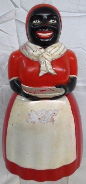Vintage Large Black Americana F&f Plastic Cookie /