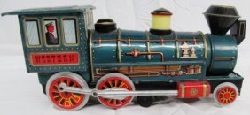 Vintage Metal Modern Toys Made In Japan Western Train