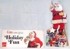 Lot Of 2 Vintage Coca-cola 1960's Stand-up & Display