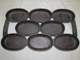 Antique Cast Iron Muffin Biscuit Tray No. 5