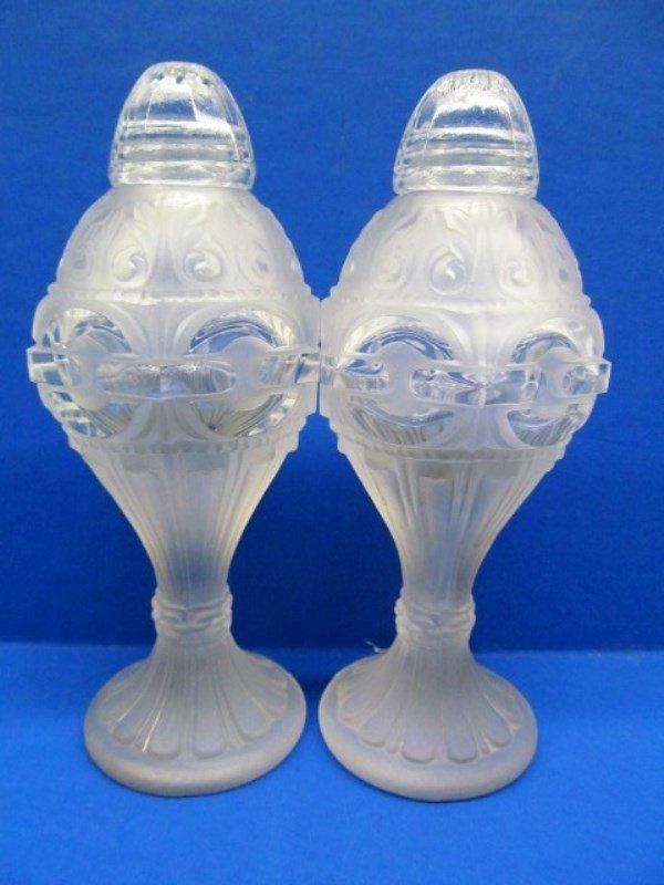 "Lalique Salt & Pepper Shakers ~ 5 1/2"" Tall"