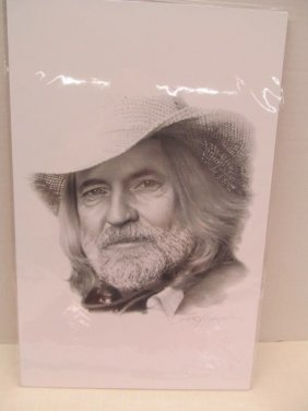Original Print By Jerry Harris ~ Willie Nelson ~ The
