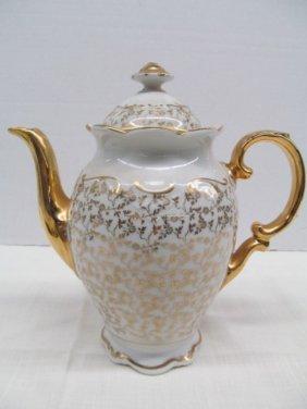 """Haus Dresden Gold Trimmed Tea Pot 9"""""""