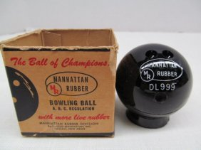 Vintage Miniature Manhattan Rubber Bowling Ball