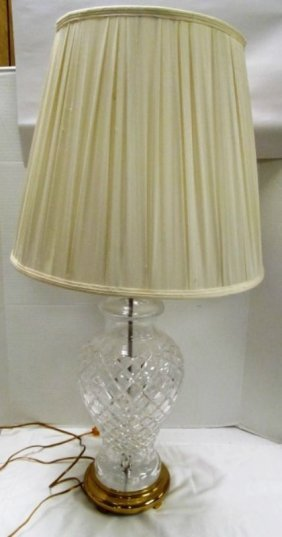 Waterford Crystal Lismore Tall Full Size Table Lamp ~