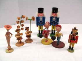 Vintage 8 German Miniature Figures ~ Nutcrackers ~ Lady