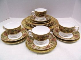 "Set Of China ~ Service For 4 ~ Wedgwood ""floral"