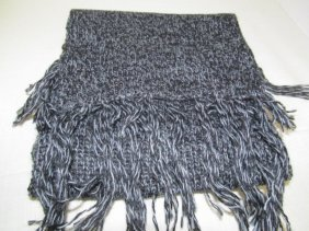 100% Baby Alpaca Scarf ~ Blackish Gray