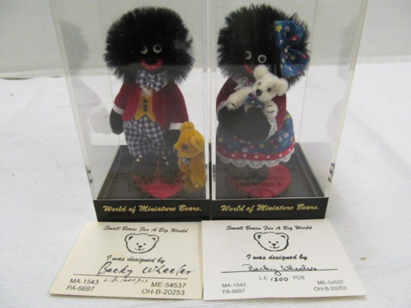 Lot of 2 Limited Edition Miniature Golliwog Dolls in