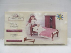 Vintage (67) Springfield Collection Doll Rope Bed ~