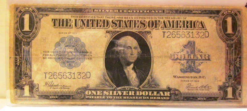On Dollar $1 Series of 1923 Silver Certificate ~ George
