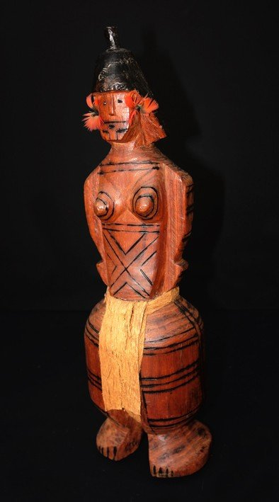 "1: Sculpture wood carved, Indian Tribe ""Karajá"", Height"