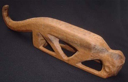 "6: Monkey, Sculpture wood carved, Indian Tribe ""Ye'kuan"