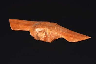 "8: Bat wood carved, Indian Tribe "" Yekuana"", Length: 31"