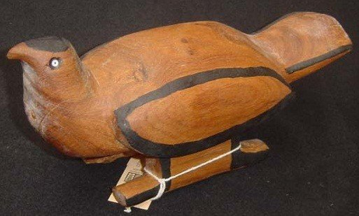 "12: Bird, Wood carved, Indian Tribe ""Mehinaku, Mehinako"