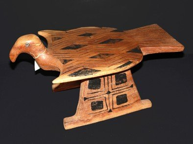 18: Bank wood carved, painted natural pigments, Indian
