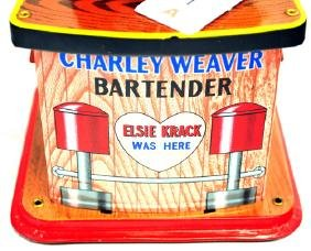 Original Charlie Weaver Bartender In Original Box