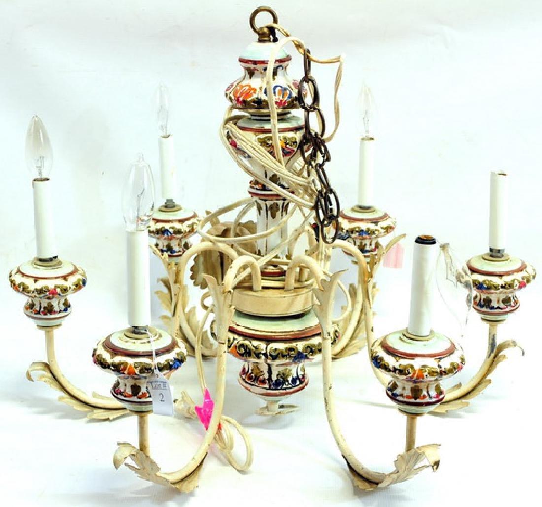 Vintage Porcelain Chandelier