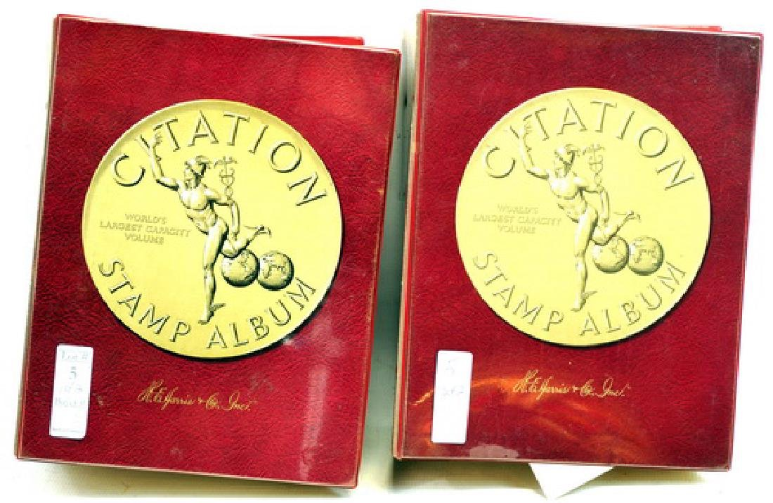 Two Citation Estate Stamp Albums