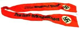 Original WWII Nazi German Funeral Sash