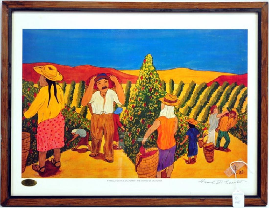 6 Frank Diaz Escalet Hand signed Framed Prints - 3
