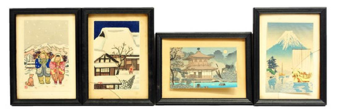 8 Mini Japanese Woodblock Prints