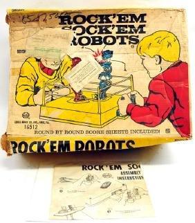 Original 1960's Marx Rock Em Sock EM Robots