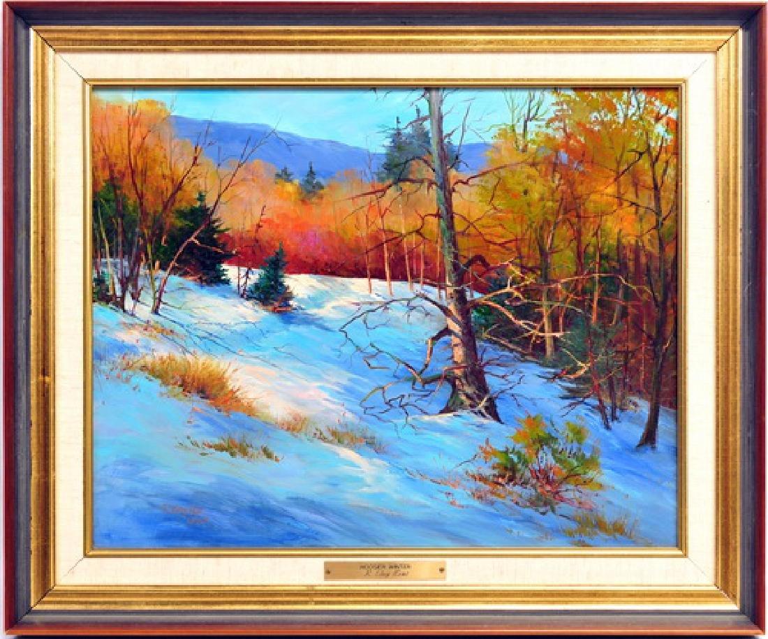 Oil On Board Hoosier Winter By R. Clay Kent