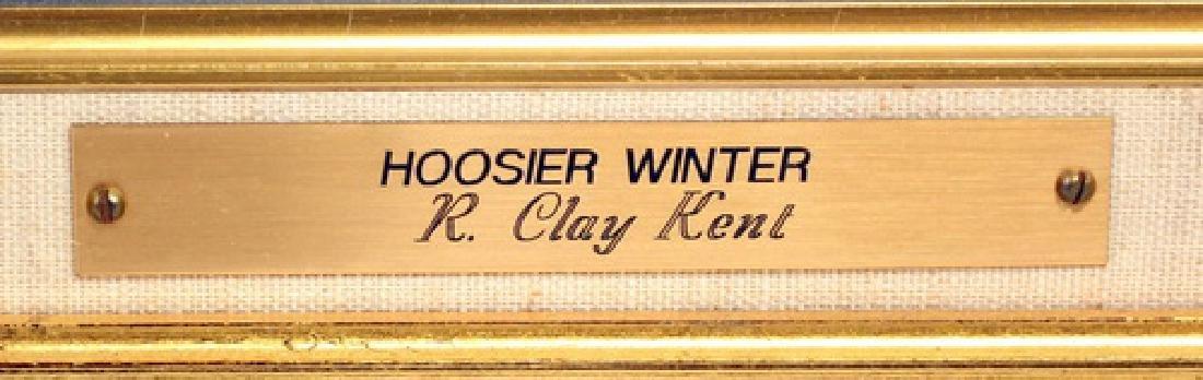 Oil On Board Hoosier Winter By R. Clay Kent - 2