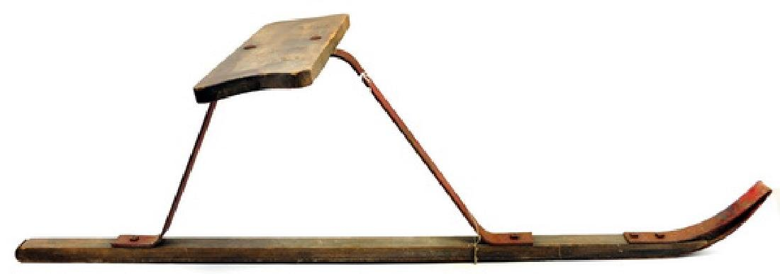 Antique Ski Skooter Suicide Sled