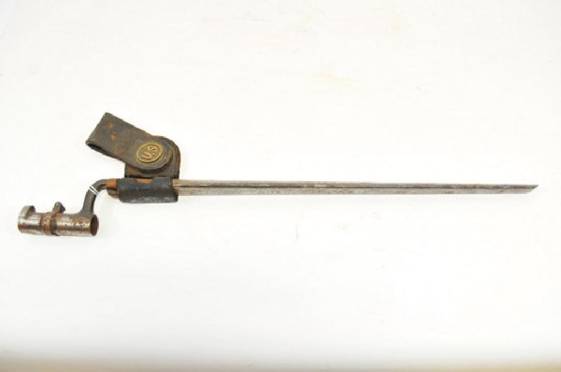 1873 US Springfield Bayonet With Scabbard and Frog