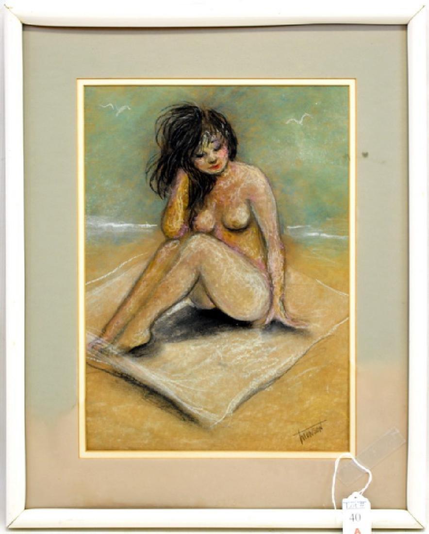 Pastel On Paper Nude by Mandius Munson