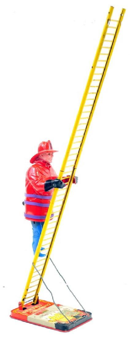 Marx Climbing Fireman Toy in Working Condition - 2