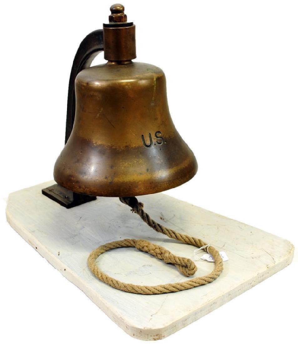 WWII Era US Heavy Bronze Ships Bell