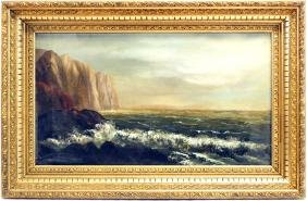 Oil On Canvas of Whitehead  Cliff