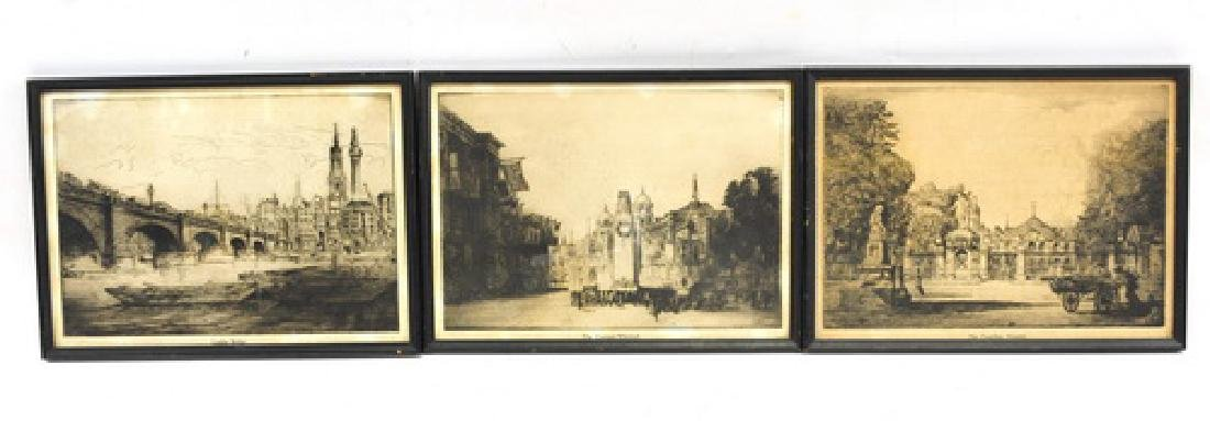 6 William Monk Etchings 1863-1937
