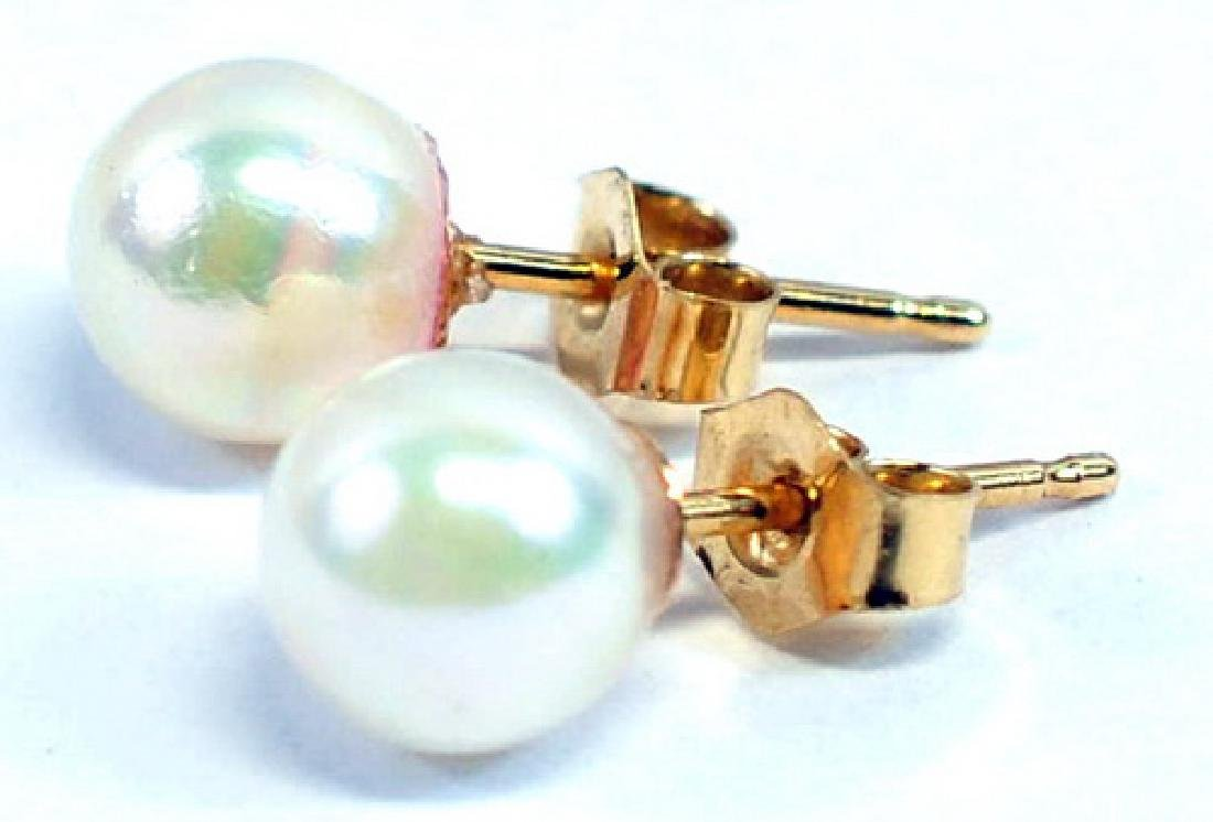 14K Yellow Gold Ladies Pearl Necklaces - 4
