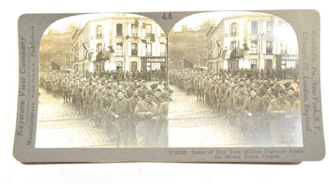 30 WWI Stereo View Cards War Scenes - 2