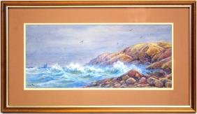 Pastel Seascape by  William Paskell