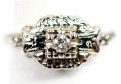 2 Antique Ladies 14K Gold Diamond rings
