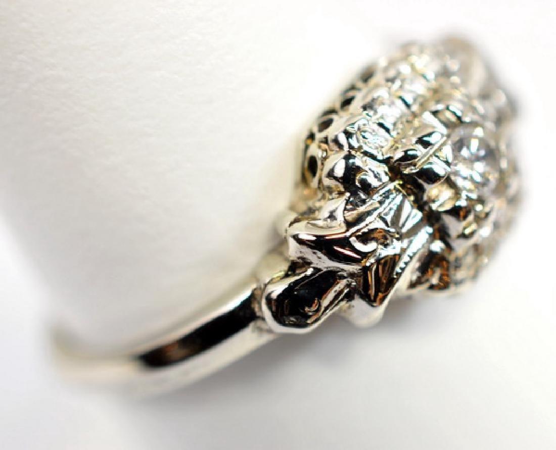 2 Antique Ladies 14K Gold Diamond rings - 2