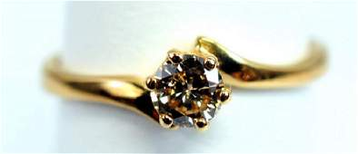 Ladies Champagne Diamond 14K ring