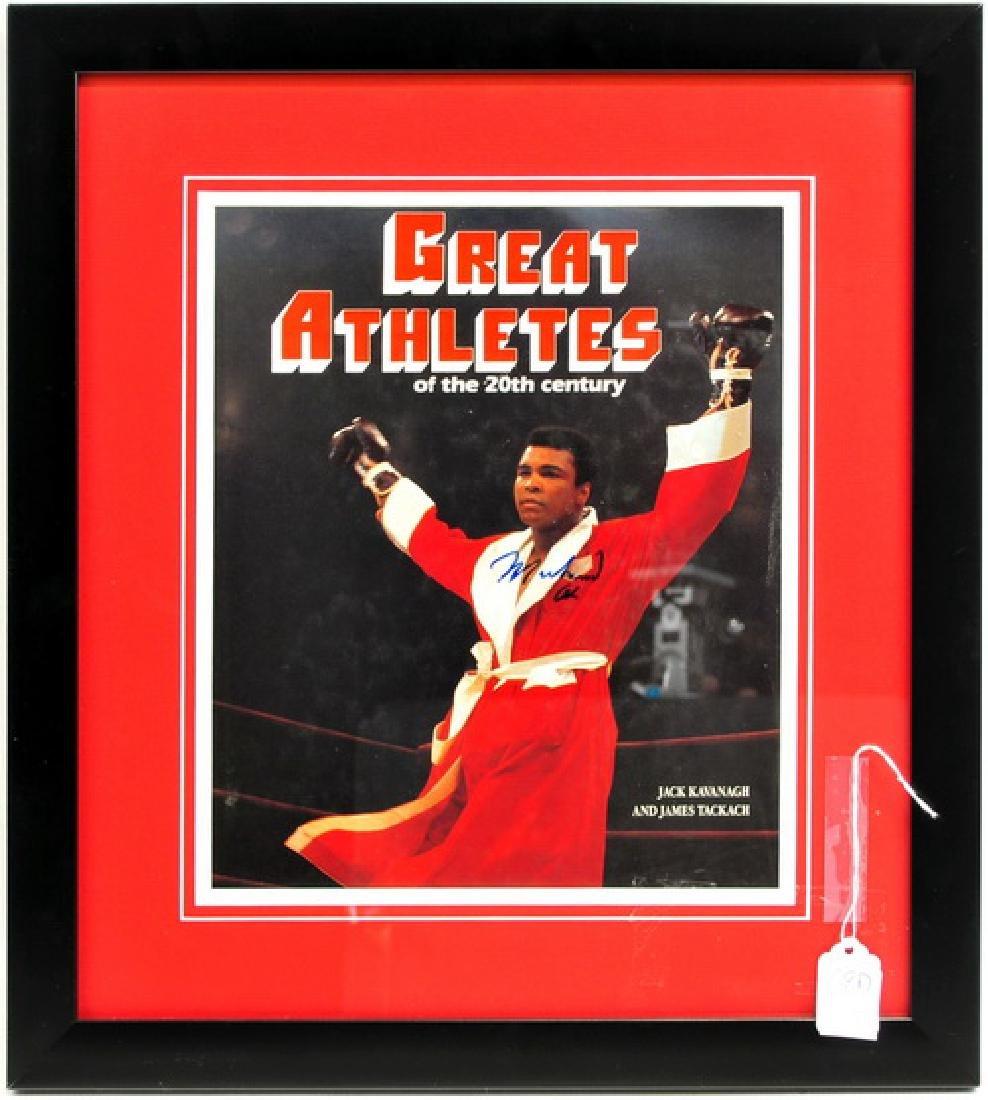 Muhammad Ali Signed Book cover Framed JSA COA