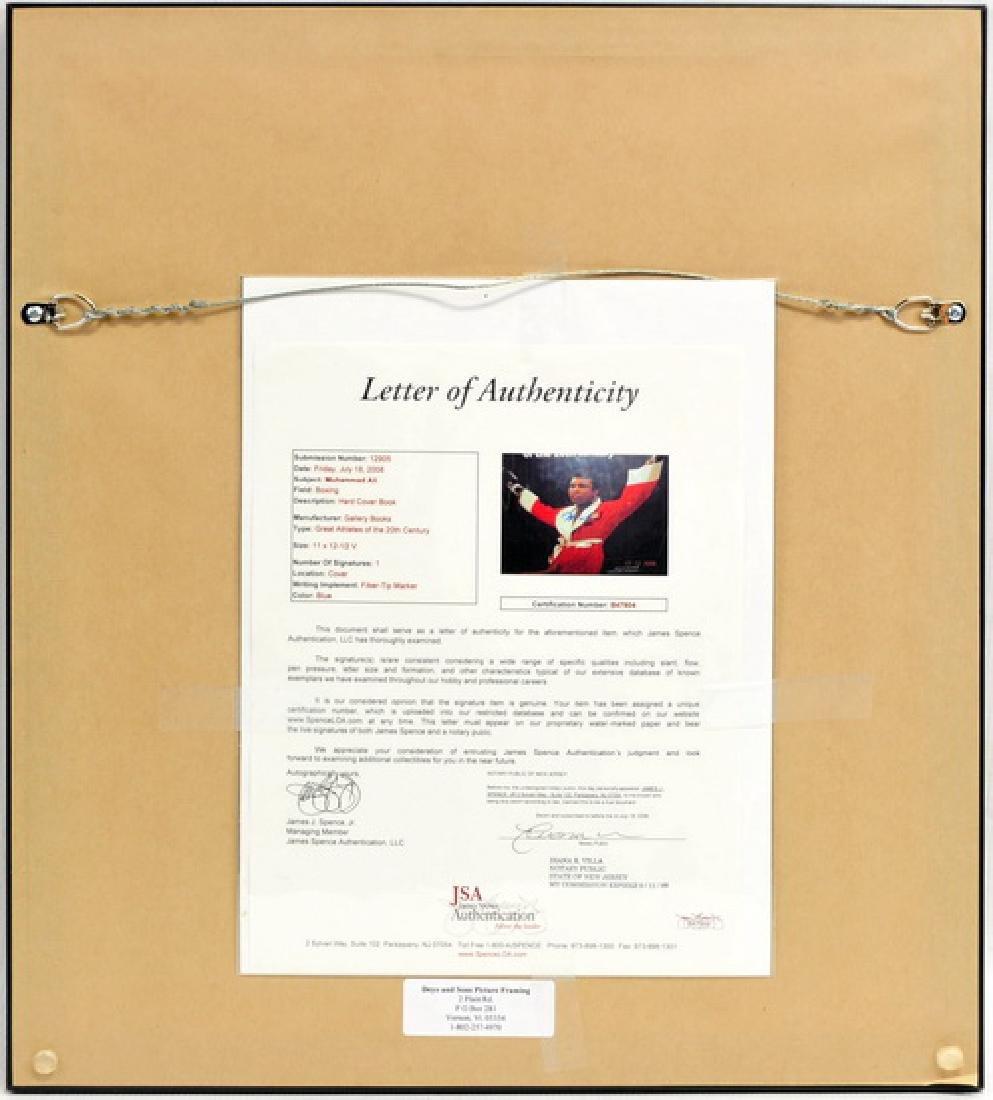 Muhammad Ali Signed Book cover Framed JSA COA - 2