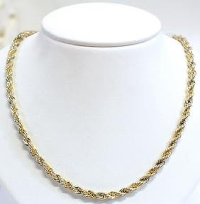 Tiffany & Co Signed 18K & Sterling Necklace