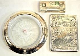 Sterling Silver Cigarette Holder & Match Safe