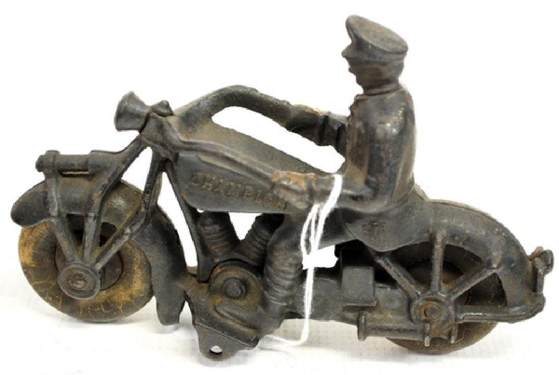 """Champion 7"""" Cast Iron Motorcycle Toy - 2"""